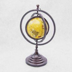 globus sferyczny z trzema tarczami