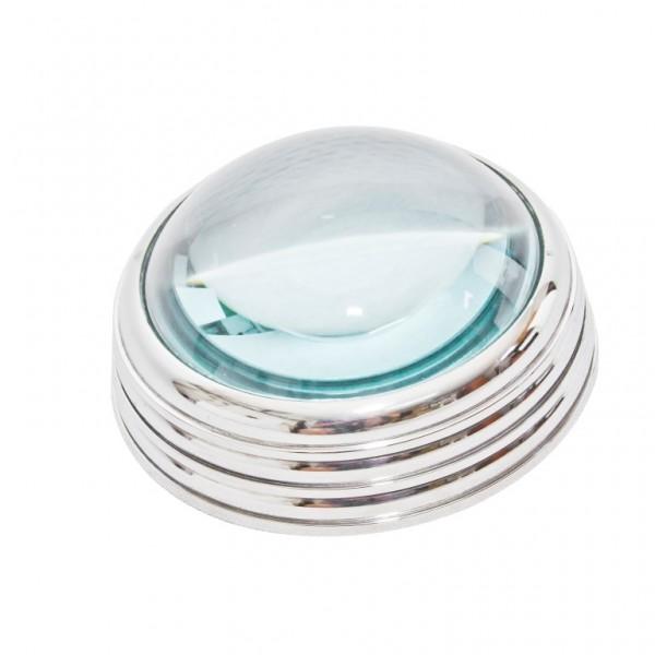 Metalowe szkło powiększające - przycisk do papieru