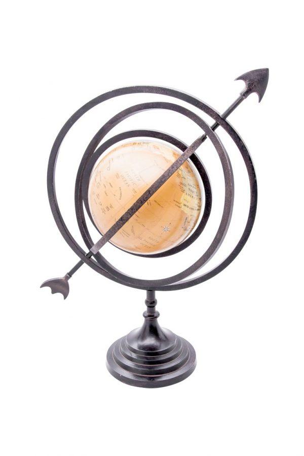 Globus przebity strzałą