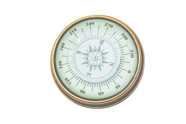 kompas z soczewką przycisk do papieru