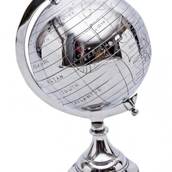 metalowy błyszczący globus
