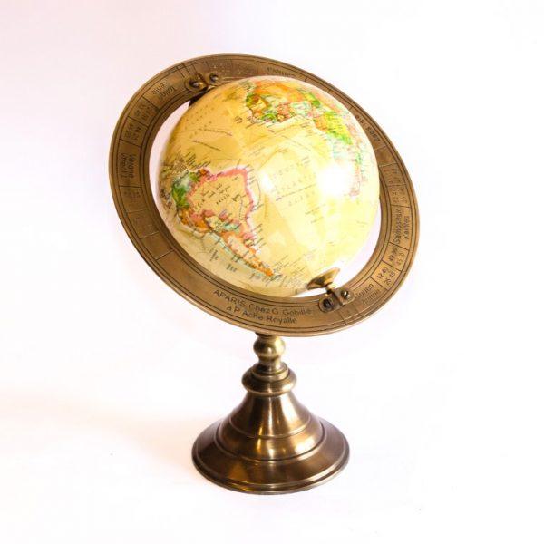 Globus z mosiężną obręczą 1
