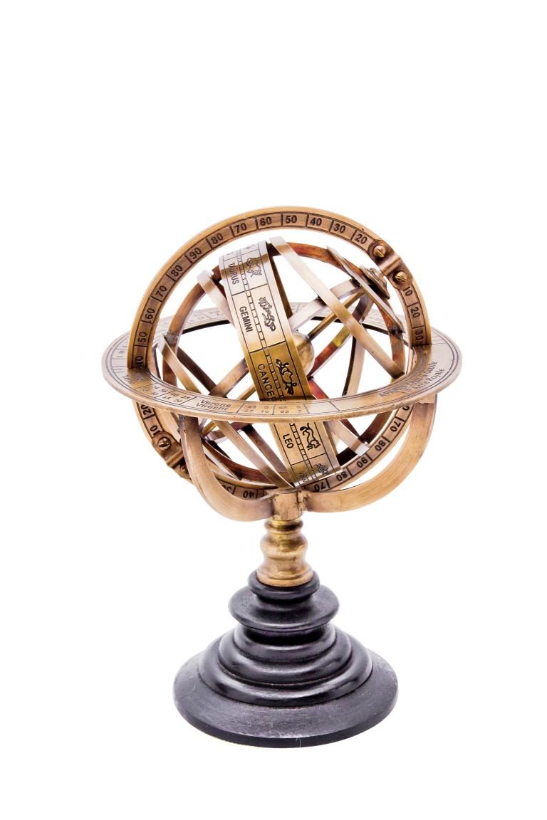 Mosiężne astrolabium
