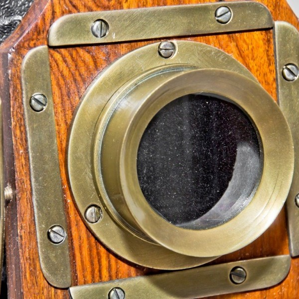 obiektyw aparatu retro