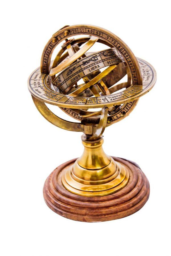 Piękne mosiężne astrolabium