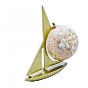 żaglowiec z globusem
