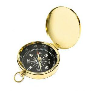 kompas kieszonkowy mosiężny