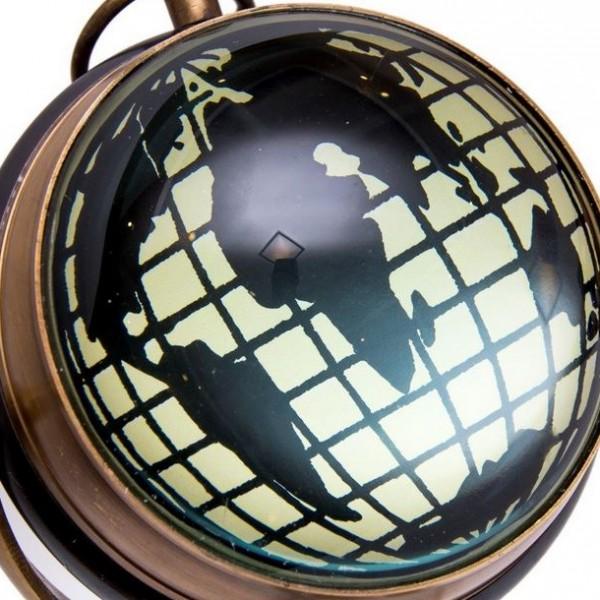 tył zegara - mapa świata