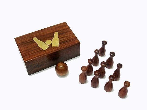 drewniane mini kręgle