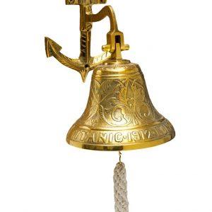 dzwonek do zawieszenia na ścianie z kotwicą