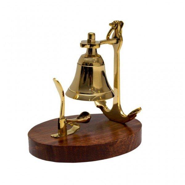 dzwonek zawieszony na kotwicy