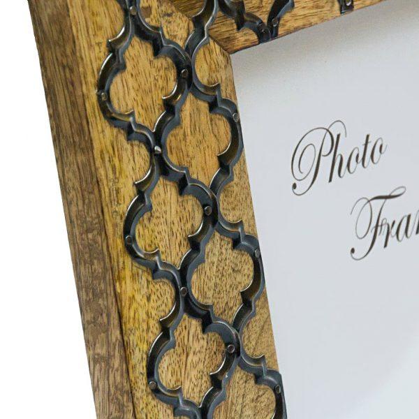 drewniana ramka z ornamentami 13x18 cm