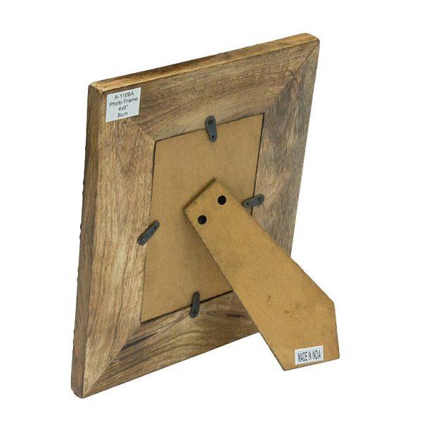 Drewniana ramka stojąca 10x15 cm