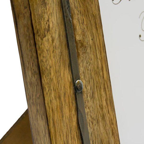 ramka drewniana z metalową ramą