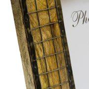 Drewniana ramka na zdjęcie metalowa krata 13x18 cm