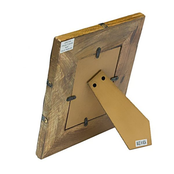 Drewniana ramka na zdjęcie z nóżką