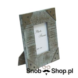 Ramka z nieheblowanego drewna 10x15 cm