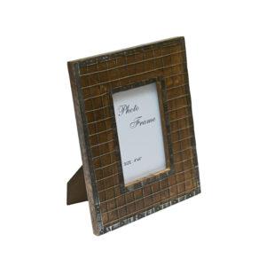 Drewniana ramka z siatka 10x15 ciemna