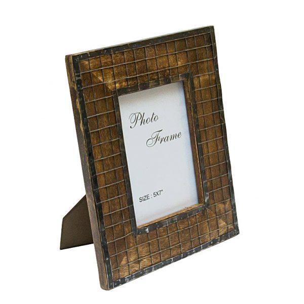 ramka na zdjęcie z siatka 13x18 cm - ciemna