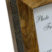 Piękna drewniana ramka z metalowym wykończeniem 10x15