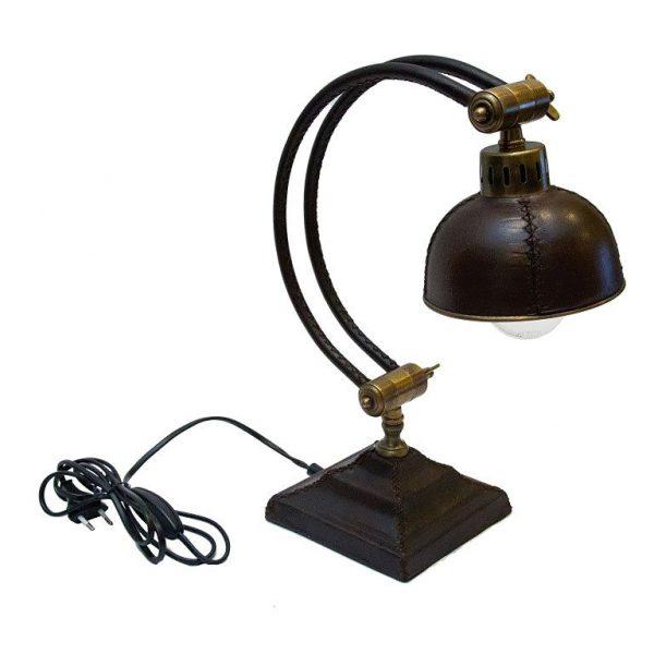 Mosiężna lampa biurowa