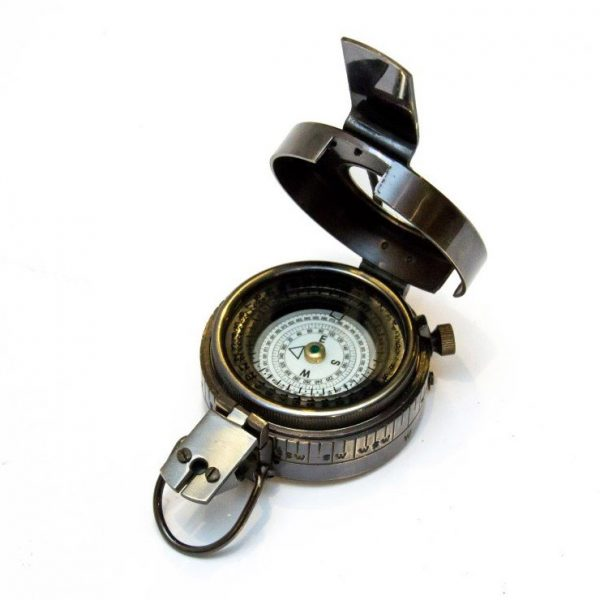kompas mosiężny ciemny
