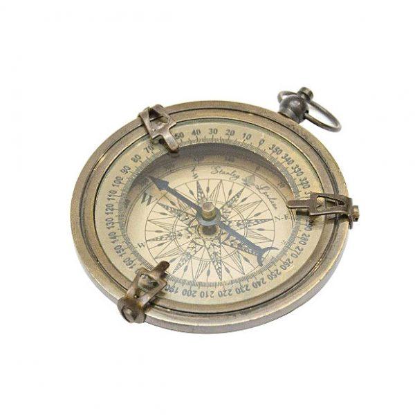 kompas mosiężny mały antyk
