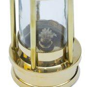 Mosiężna lampa żeglarska, górnicza
