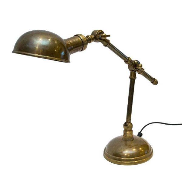 Mosiężna lampa na biurko