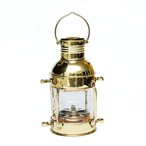 mosiężna lampa naftowa żeglarska