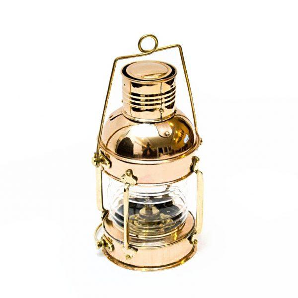 mosiężna lampa żeglarska retro