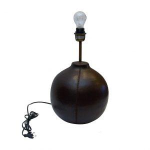 stojak lampy skórzanej na biurko - bez klosza