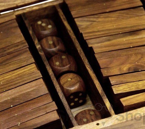 Domino, kości, kółko i krzyżyk - 3 gry w pudełku
