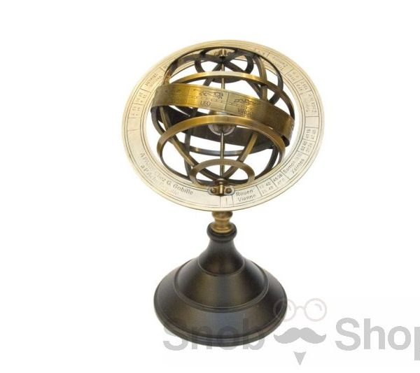 małe astrolabium mosiężne