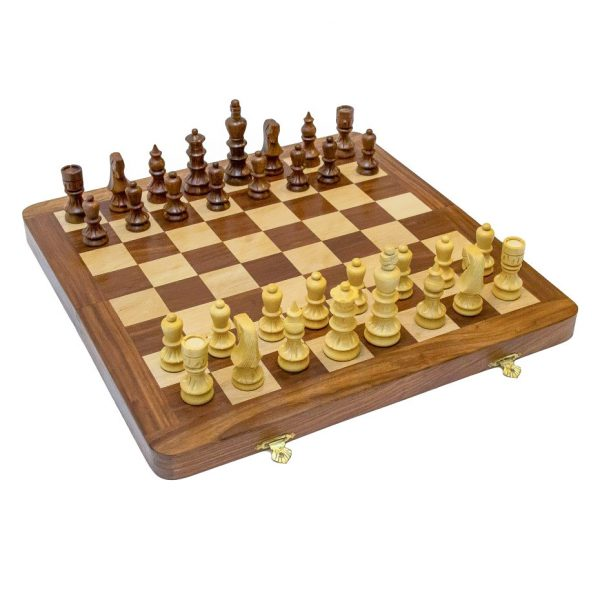 szachy drewniane z palisandru