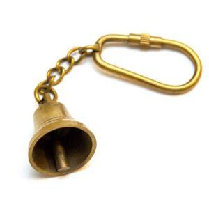 breloczek mosiężny mini dzwonek