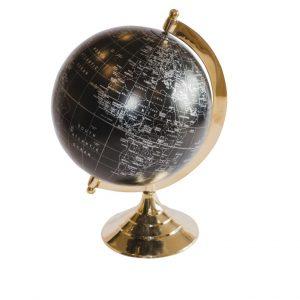 Globus mosiężno - plastikowy czarny 2