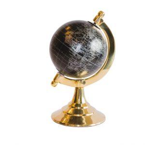 Globus mosiężno plastikowy czarny