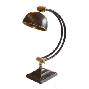 Lampa skórzano - mosiężna Andrew 2