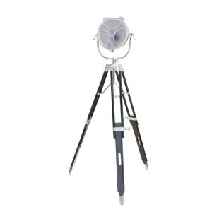 Metalowa, okrągła lampa na trójnogu ROUND EYE