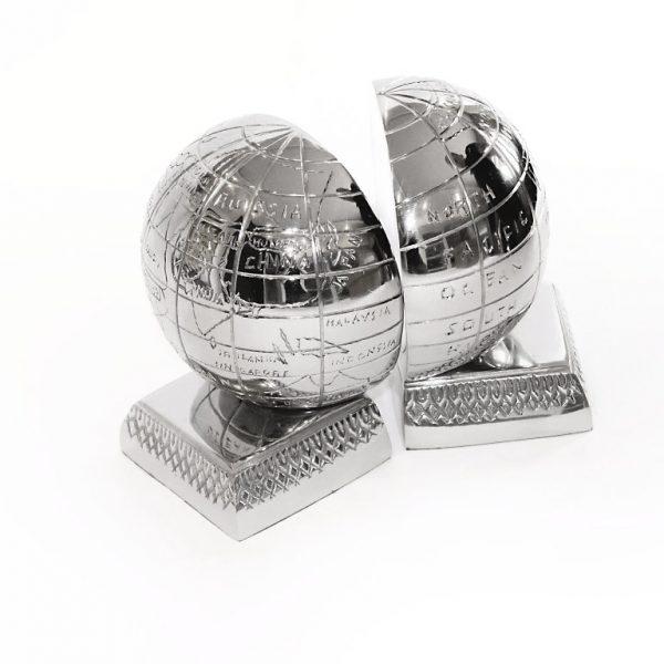 glob srebrny - podpórka na książki