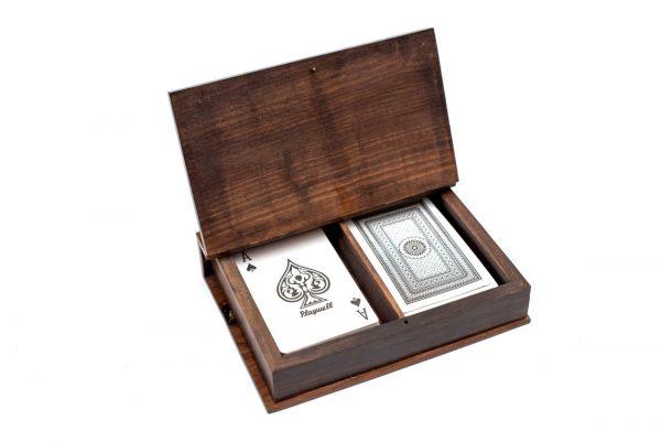 2 talie kart w pudełku drewnianym