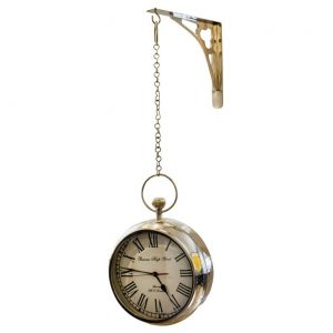 Duży zegar wiszący 2 stronny STATION z zawiesiem