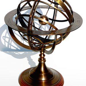 Duże mosiężne Astrolabium