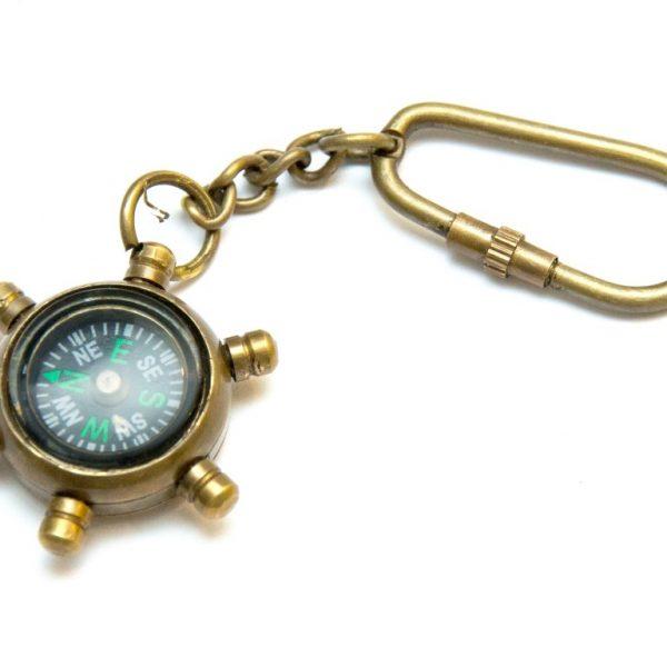 Breloczek mosiężny - mini kompas
