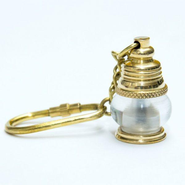 Breloczek mosiężny - mini lampa okrętowa