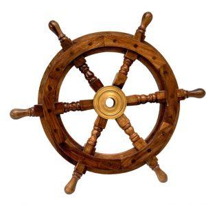 """Dekoracyjne koło drewniane 18"""""""