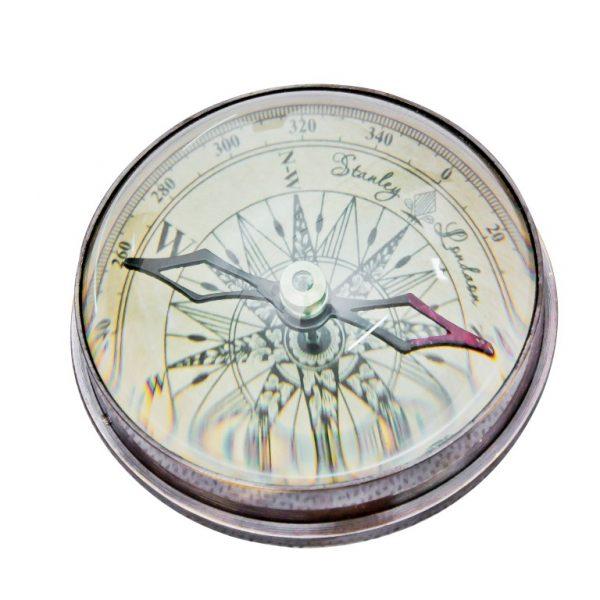 Mosiężny kompas soczewkowy