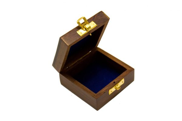 Otwarte pudełko drewniane 10x10x5cm