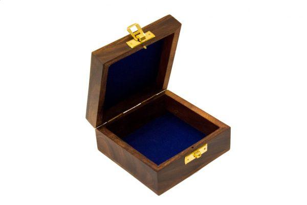 Otwarte pudełko drewniane 8x8x5 cm